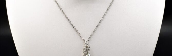 Crystal Marquis Swirl Necklet